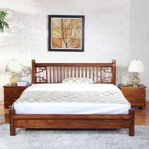 中式实木床免费定制