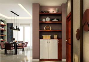 现代木质鞋柜图片