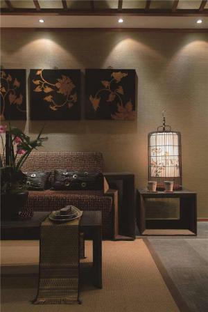 时尚中式客厅家具图片