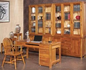实木新中式书柜