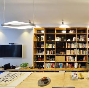 客厅背景墙组合书柜