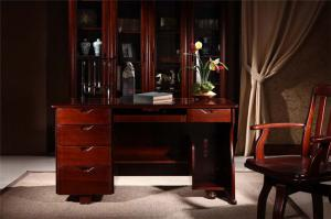 中国红中式书桌