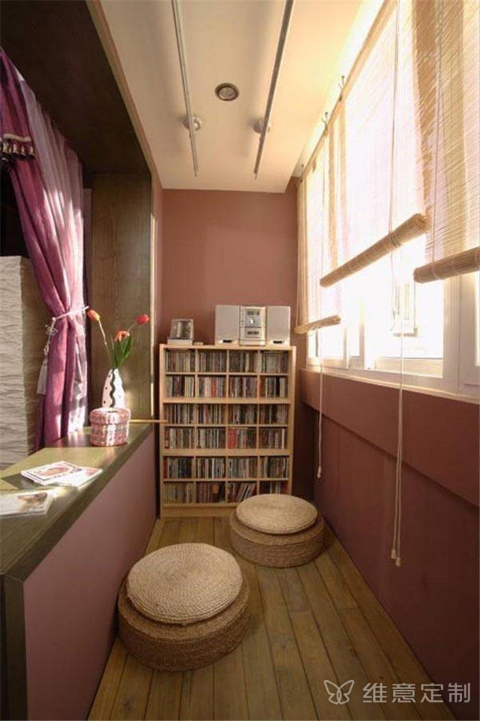 小型阳台书柜 维意定制家具网上商城