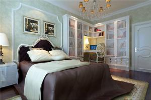 美式豪华卧室书柜