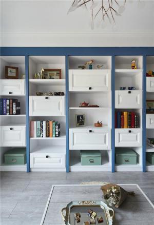 地中海风整体书柜