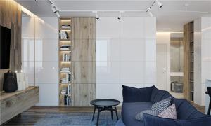 家居时尚客厅书柜墙