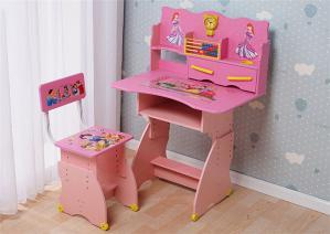 卡通白雪公主可升降学习桌