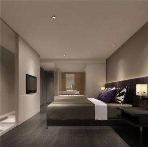 实木家庭卧室装修