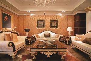 好看的长方形客厅家具图片