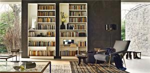 大容量客厅书柜墙