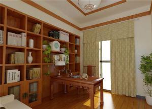 家装简单新中式书柜
