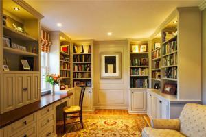 美式风格转角书柜