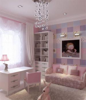 公主风儿童书桌