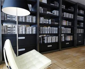 现代家居组合书柜