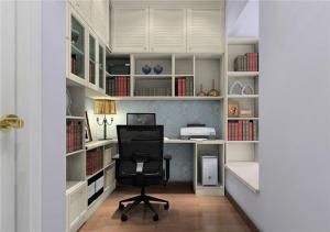 现代风格飘窗书柜
