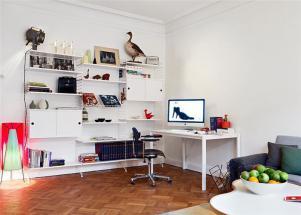 白色简易书柜设计图