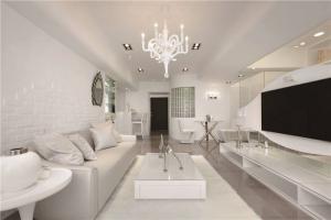 小户型长方形客厅家具图片
