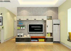 宜家风格电视书柜一体效果图