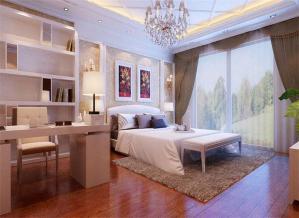 家装精致卧室书柜