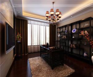 简洁大方中式书柜