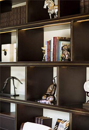 整体书柜实拍图