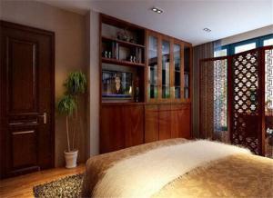 中式古风卧室书柜