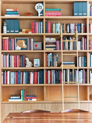实木整体书柜