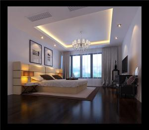 欧式奢华带飘窗的卧室装修