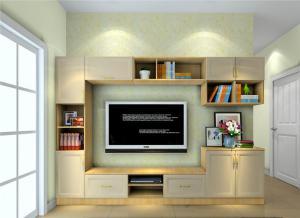电视书柜一体效果图欣赏