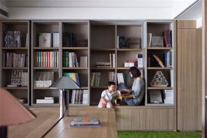 家用大面积整体书柜