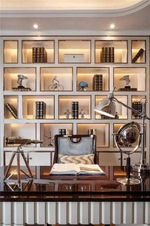 奢华质感整体书柜