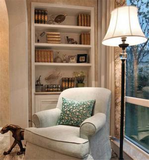 美式家居阳台书柜