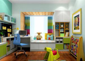 儿童房飘窗书桌