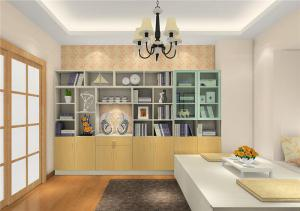 家装简单的榻榻米书柜