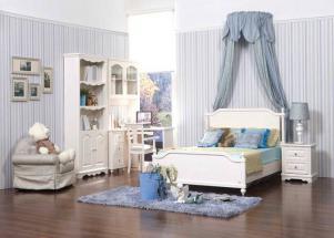 欧式白色卧室书柜