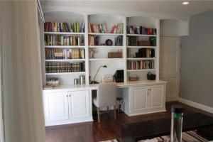 欧式白色收纳书柜