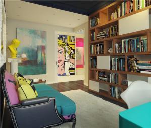 创意客厅书柜