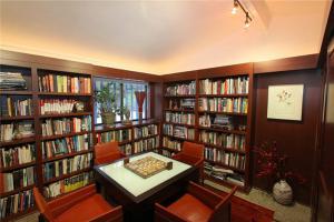 中式整体收纳书柜