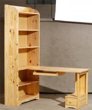 实木转角书柜