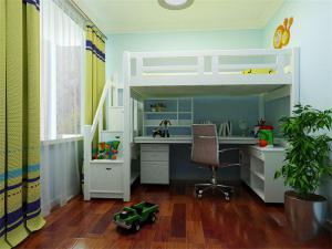 欧式儿童床书桌