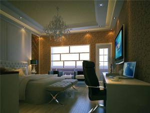 新古典带飘窗的卧室装修图