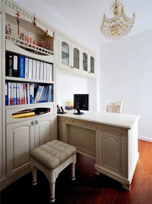 家居简单欧式书桌书柜组合
