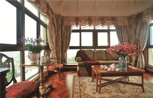 公寓中式客厅家具图片
