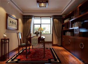 庄重的新中式书柜