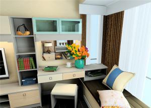 现代风格飘窗书桌