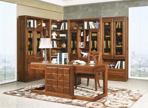 中式书桌书柜组合