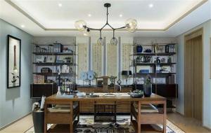 家居实用新中式书柜
