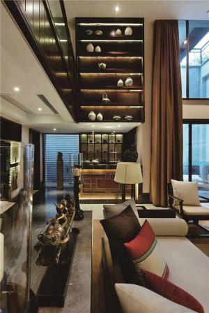 欧式奢华长方形客厅家具图