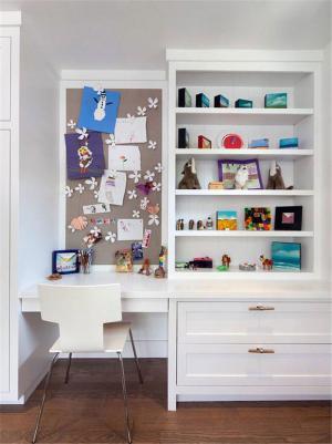 白色儿童简易书柜