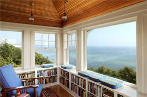 阳台转角书柜